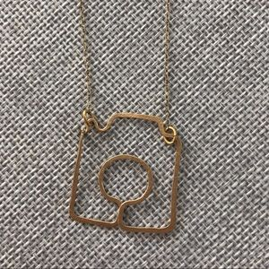Gold Camera Necklace